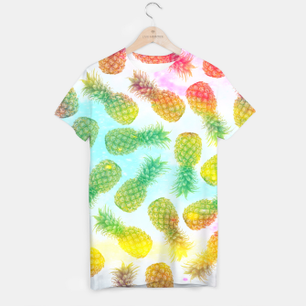 Imagen en miniatura de Colorful pineapples T-shirt, Live Heroes