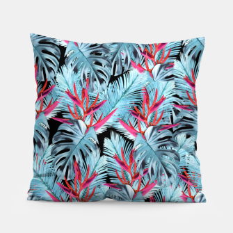 Miniaturka Tropical exotic plants leaves Pillow, Live Heroes