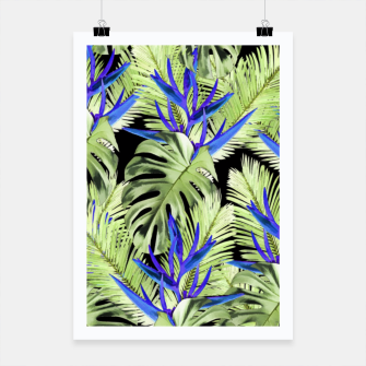 Miniaturka Tropical exotic plants leaves Poster, Live Heroes