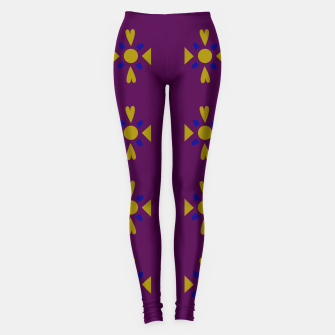 Thumbnail image of Girls artistic Leggings : MOROCCO GOLD PURPLE, Live Heroes