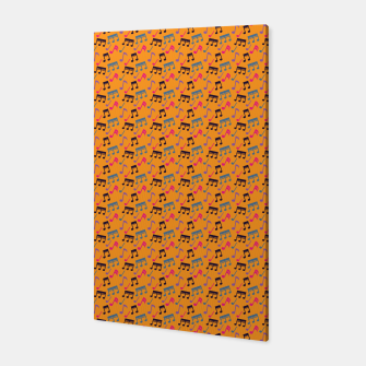 Thumbnail image of Colorful Music Notes Pattern 3 Canvas, Live Heroes