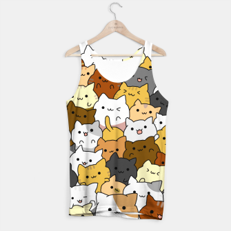 Miniatur Full Cup Cats Tank Top, Live Heroes