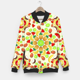 Thumbnail image of Mandala Summer Fruits and Juice Baseball Jacket, Live Heroes