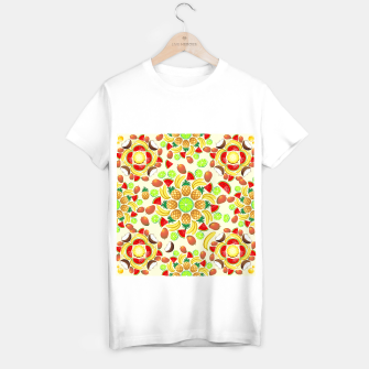 Thumbnail image of Mandala Summer Fruits and Juice T-shirt regular, Live Heroes