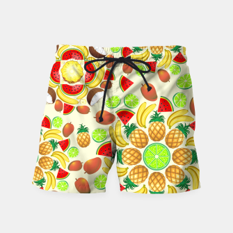 Thumbnail image of Mandala Summer Fruits and Juice Swim Shorts, Live Heroes