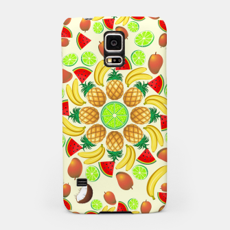 Thumbnail image of Mandala Summer Fruits and Juice Samsung Case, Live Heroes