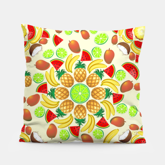 Thumbnail image of Mandala Summer Fruits and Juice Pillow, Live Heroes