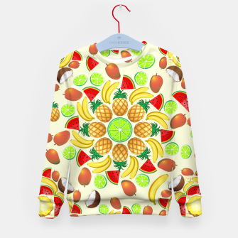 Thumbnail image of Mandala Summer Fruits and Juice Kid's Sweater, Live Heroes