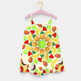 Thumbnail image of Mandala Summer Fruits and Juice Girl's Dress, Live Heroes