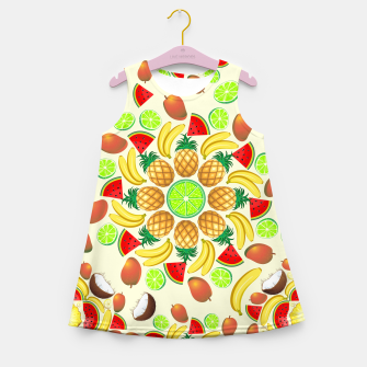 Thumbnail image of Mandala Summer Fruits and Juice Girl's Summer Dress, Live Heroes