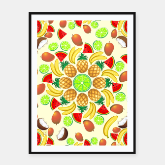 Thumbnail image of Mandala Summer Fruits and Juice Framed poster, Live Heroes