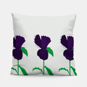 Thumbnail image of Luxury designers handdrawn Pillow : PURPLE ART, Live Heroes