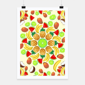 Thumbnail image of Mandala Summer Fruits and Juice Poster, Live Heroes