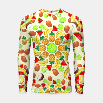 Thumbnail image of Mandala Summer Fruits and Juice Longsleeve Rashguard , Live Heroes