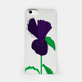 Thumbnail image of Designers iPhone Case with Painted purple Flower. Original design., Live Heroes
