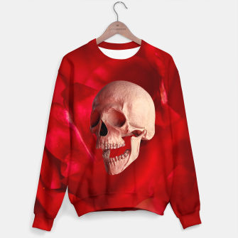 Thumbnail image of Funny Skull and Rose Sweater, Live Heroes