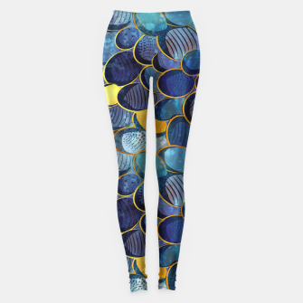 Thumbnail image of Abstract deep blue Leggings, Live Heroes