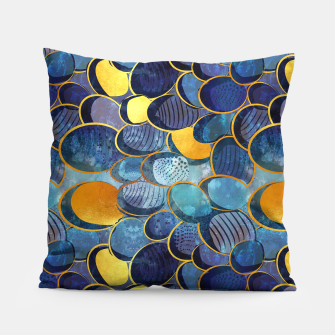 Thumbnail image of Abstract deep blue Pillow, Live Heroes