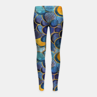 Thumbnail image of Abstract deep blue Girl's Leggings, Live Heroes
