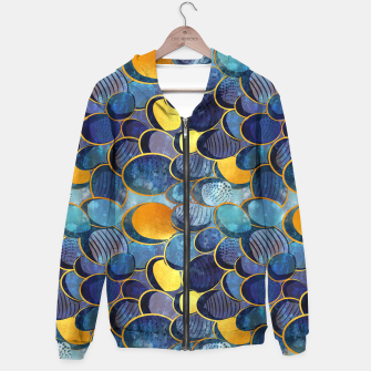 Thumbnail image of Abstract deep blue Hoodie, Live Heroes