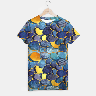 Thumbnail image of Abstract deep blue T-shirt, Live Heroes