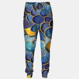 Thumbnail image of Abstract deep blue Sweatpants, Live Heroes