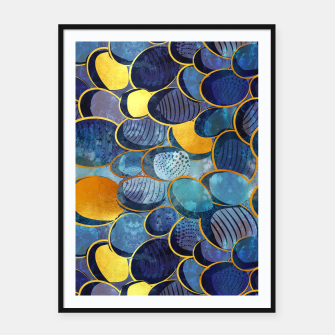 Thumbnail image of Abstract deep blue Framed poster, Live Heroes