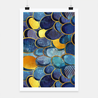 Thumbnail image of Abstract deep blue Poster, Live Heroes