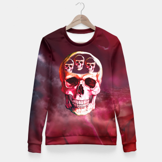 Funny Skull Fitted Waist Sweater thumbnail image