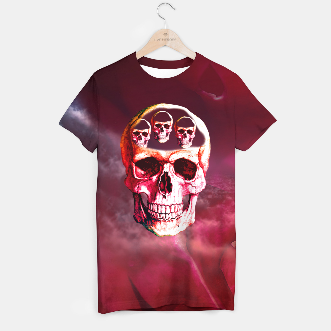 Image of Funny Skull T-shirt - Live Heroes