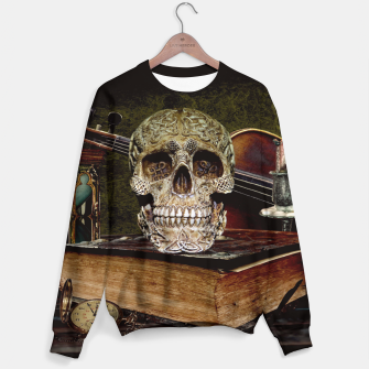 Thumbnail image of Funny Skull and Book Sweater, Live Heroes