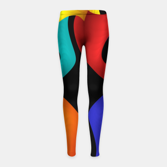 Thumbnail image of crossing colors -2- Girl's Leggings, Live Heroes