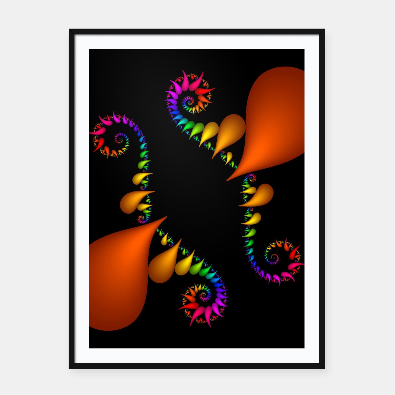 Image of crossing colors -3- Framed poster - Live Heroes