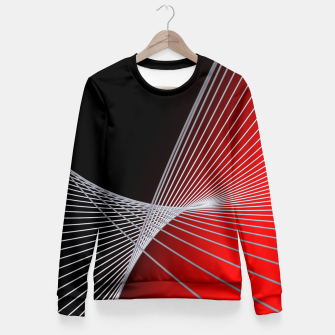 Thumbnail image of crossing lines -6- Fitted Waist Sweater, Live Heroes