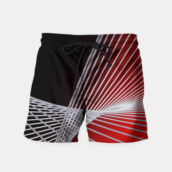 Thumbnail image of crossing lines -6- Swim Shorts, Live Heroes