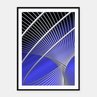 crossing lines -4- Framed poster thumbnail image