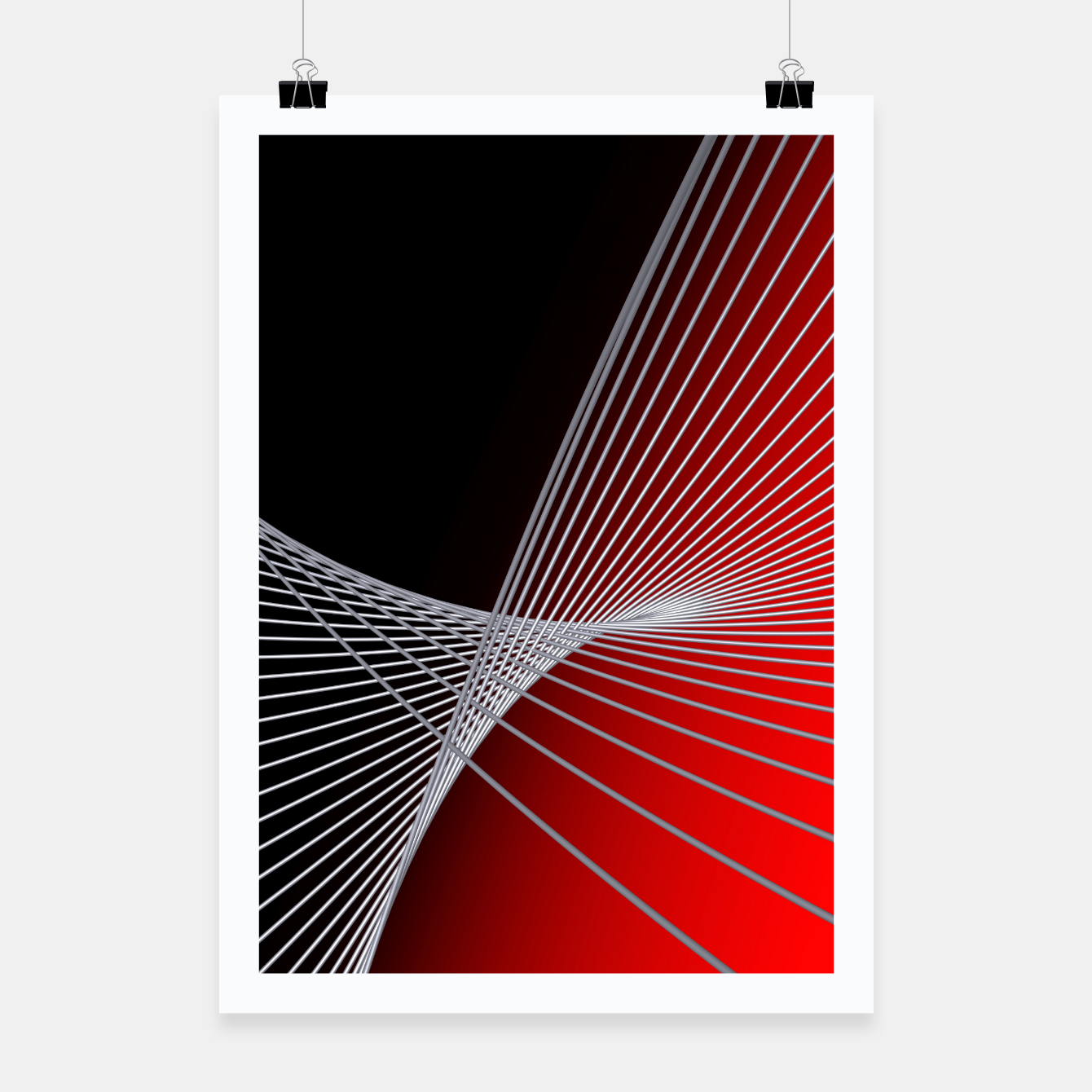 Image of crossing lines -6- Poster - Live Heroes