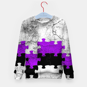 Thumbnail image of puzzle -1- Kid's Sweater, Live Heroes