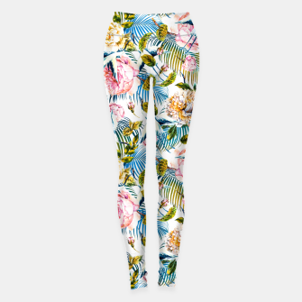 Miniaturka Flowering Jungle of Birds - Pattern Leggings, Live Heroes