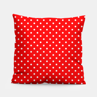 Miniaturka Polka dots circles print red Pillow, Live Heroes