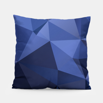 Miniaturka Abstract background of triangles polygon wallpaper in blue navy colors Pillow, Live Heroes