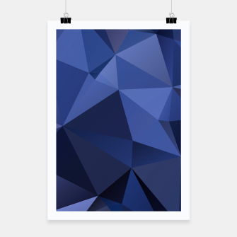 Miniaturka Abstract background of triangles polygon wallpaper in blue navy colors Poster, Live Heroes
