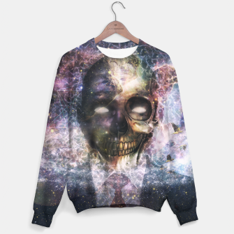 Thumbnail image of Psychedelic Skull and Galaxy Sweater, Live Heroes
