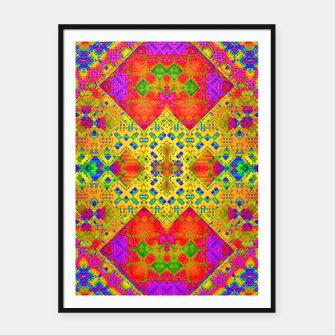 Thumbnail image of Mosaic Pattern with Neon Colors Framed poster, Live Heroes