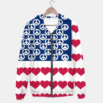 Thumbnail image of 4 july iindependence day love & peace usa flag Hoodie, Live Heroes