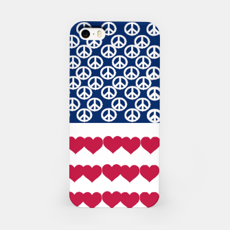 Thumbnail image of 4 july iindependence day love & peace usa flag iPhone Case, Live Heroes