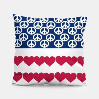 Thumbnail image of 4 july iindependence day love & peace usa flag Pillow, Live Heroes