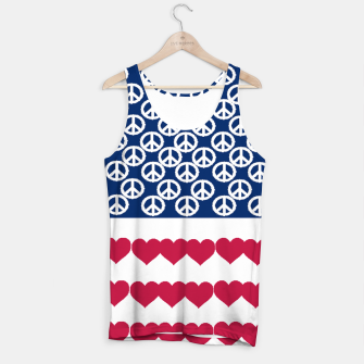 Thumbnail image of 4 july iindependence day love & peace usa flag Tank Top, Live Heroes