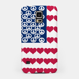 Thumbnail image of 4 july iindependence day love & peace usa flag Samsung Case, Live Heroes