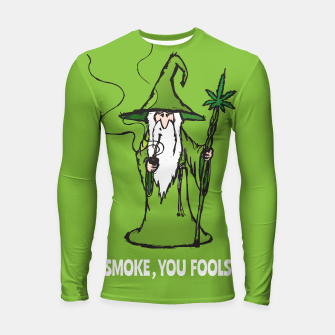 Thumbnail image of Ganjalf the Green  Longsleeve Rashguard , Live Heroes